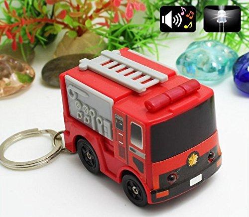 Feuerwehr gelb oder rot mit LED und Sound (Sirene) (Rot Feuerwehr) -
