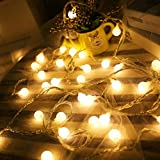 LED Ball String Lights,Zimingu LED lichterkette warmweiß USB Globe Weihnachten Fairy Light Birne 33FT