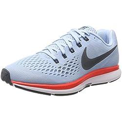best sneakers b77ad f6922 Nike Wmns Air Zoom Pegasus 34, Zapatillas de Entrenamiento para Mujer, Azul  Glacé