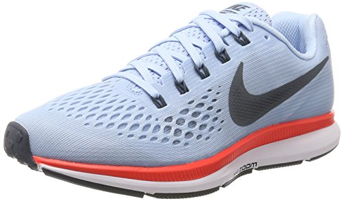 Nike Damen Wmns Air Zoom Pegasus 34 Laufschuhe, Blau (Ice Blue/Bright Crimson/White/Blue Fox), 37.5 EU