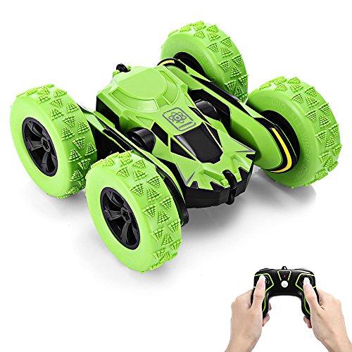 GBlife Ferngesteuertes RC Auto Spielzeug Auto 2,4 GHz 360° Drehung RC Racing Buggy Spiegeln Doppelseitiges Fahren High Speed Stunt Autos Spielzeug Geschenke für Kinder ab 8 Jahre Alt (Grün) - Monster-lkw-spielzeug Mädchen,
