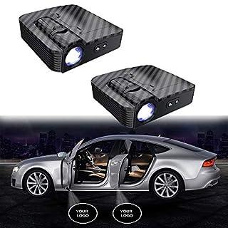 MIVISO Kein Magnet Autotür Led Logo Projektor Licht Verbesserte Drahtlose Lampe Willkommen Ghost Shadow Licht 2 Stücke