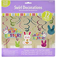 Amscan 670419 Easter Bunny Hanging Swirl Decorations