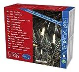 Konstsmide 6080-100 LED Minilichterkette/für Außen (IP44) / VDE geprüft / 24V Außentrafo / 304 warm weiße Dioden/grünes Kabel