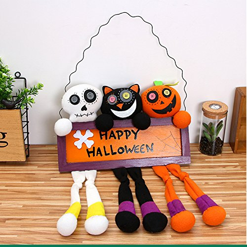 AAAHOMEEU Halloween Dekoration Stützen kreative Halloween Puppentür hängende Bar KTV Plüsch Puppe (Printables Kürbis)