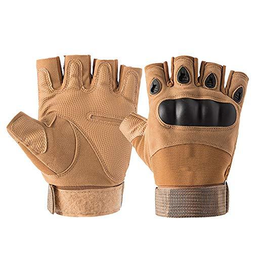 YGRSJ Outdoor Sports Taktische Handschuhe, rutschfest atmungsaktiv für Wandern Klettern Motorrad Cross Country Radfahren Arbeitshandschuhe,Sand -