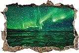 Aurora dans l'effet de crayon ciel art coloré percée de mur en 3D look, mur ou format vignette de la porte: 62x42cm, stickers muraux, sticker mural, décoration murale