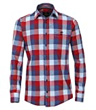 Casa Moda Flanell Hemd Casual Fit Sports Edition Karo Rot Kent, Größe: L