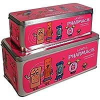 The Home Deco Factory 2Boxen Medizinschrank–27x 12cm–Pink preisvergleich bei billige-tabletten.eu