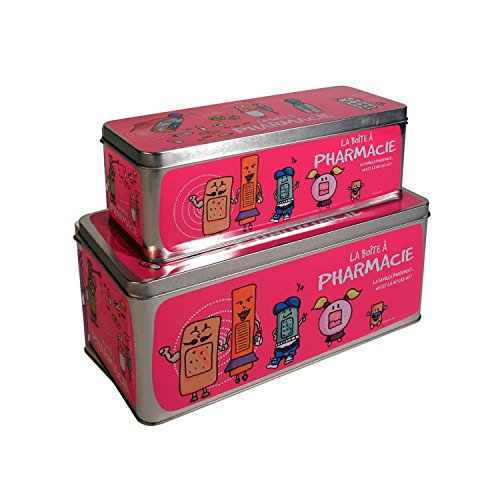 2Boxen Medizinschrank–27x 12cm–Pink