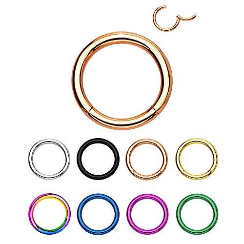 eeddoo® Stahl - Segment Clicker 1,0 mm 8 mm (Piercing Ohrringe 1mm)