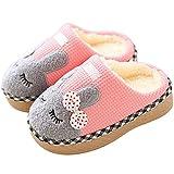 Faith Wings Jungen Mädchen Winter Pantoffeln Slippers Schuhe mit Plüsch gefüttert Wärme Weiche Rutschfeste Hausschuhe Für Kinder Baby (22/23 EU, Rosa)
