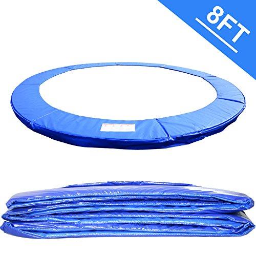 Greenbay Ø 244cm Trampoline Coussin de protection ressorts Bleu - UV anti-déchirement