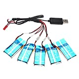 WayIn Syma X5C/X5SC/X5SW 1 To 4 3.7V 600MAH Upgrade Battere Set of 5