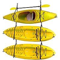 Kayak de almacenamiento sistema de correa para interiores o exteriores al aire libre | capacidad para 3kayaks