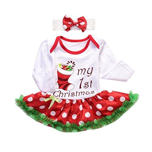 Sonnena Strampler mit Ballettröckchen für Babys, Weihnachtskleidchen 3-6M Weiß - Punkte Halloween-dot, 1-10