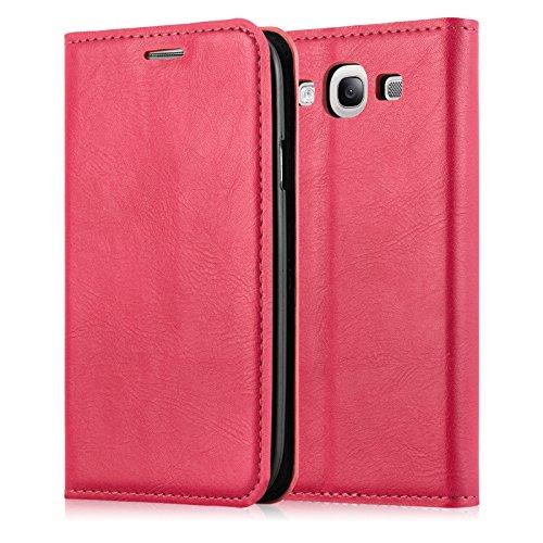 JAMMYLIZARD   Cover custodia Swiss Wallet a Libro in Pelle per Samsung Galaxy S3 e S3 Neo, CORALLO