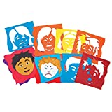 Roylco Inc. R-5859 Mix & Match Emotion Stencils 6Pk