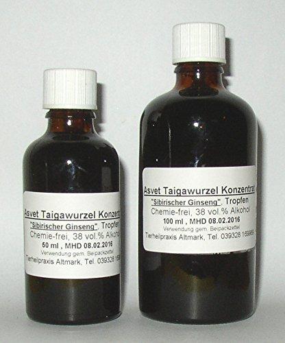 100ml Asvet Taigawurzel Tropfen, Tinktur, Sibirischer Ginseng, Konzentrat (Ginseng Tinktur)