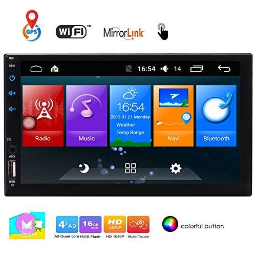 EINCAR 7-Zoll-LCD-Monitor Android 6.0 Quad-Core-Doppel-DIN-kapazitive Touchscreen im Schlag GPS-Navigation Auto Stereo Bluetooth-Freisprecheinrichtung AM/FM-RDS-Radioempf?ngern mit Fernbedienung