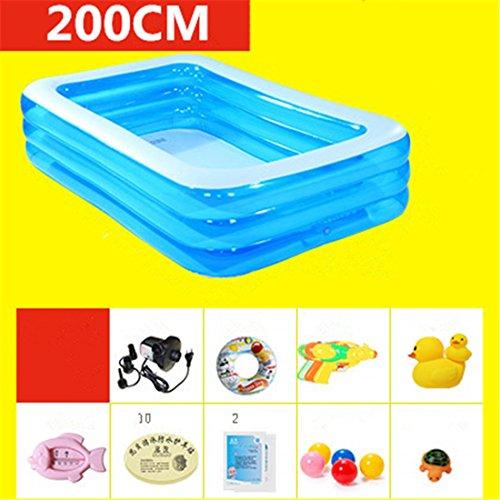 CHENHUAVerdicken Umweltfreundliche PVC Baby Kinder Schwimmen Gefaltetes aufblasbares quadratisches Großes Familien-Pool-Ball-Pool 200 * 150 * 55cm für in 3 Jahren Alt