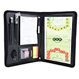 Fußball Taktikmappe Fussball Board, Reißverschlüsse Magnetic Tactic Coach Clip Board Multifunktions Coaching Strategie Board Kit Faltbarer Fußball Basketball Volleyball Taktik Platte Buch Set