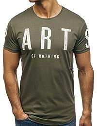 BOLF Hombre Camiseta De Manga Corta Estampado Camiseta de Algodón Estilo  Deportivo 3C3 Motivo 6746dcf27a0ad
