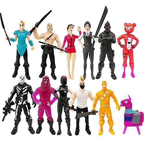 Vercico 12 pc Fortnight Conjunto de Figuras Juguetes Dibujos Animados Juguetes Modelo Personajes Muñecas Presentes para Adolescentes Adultos Niños