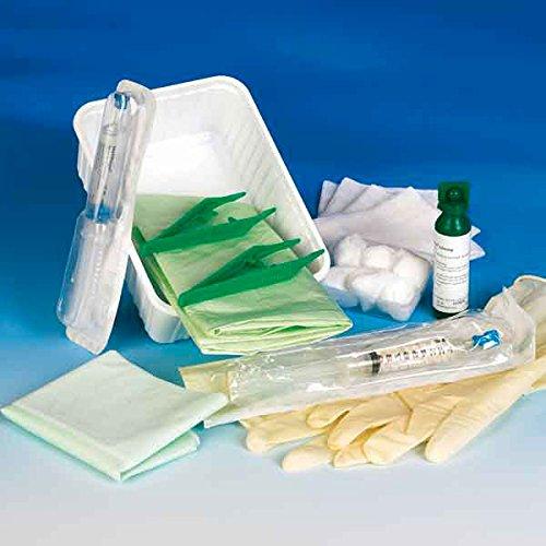 KATHETERSET - Standard (18-teilig) steril/ groß┇Urin-Auffangschale, Tupferschale, Mulltupfer, Mullkompressen, Einwegpinzette, Latex-Handschuhe, Lochtuch, Arbeitsunterlage
