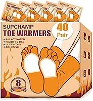 Supchamp Calentadores de Pie, 10 o 40 Pares Calentador para Dedos de Los pies Adhesivo y Desechables, Almohadi