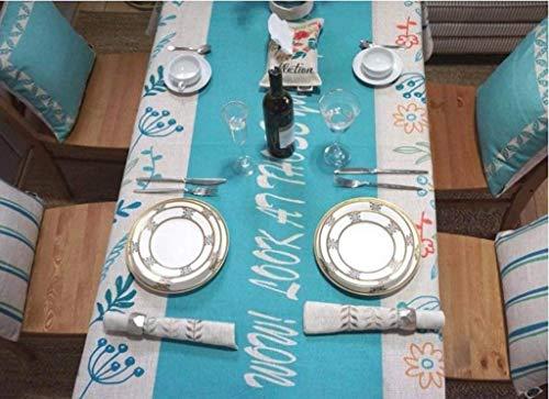 CWX Tischdecke - Persönlichkeit Wohnzimmer Tisch decken frische Tischdecke Tuch blau und grün Tischdecke rechteckige Kaffee Tischdecke schöne geruchlose Kaffee Tischset Computer Tuch Haushalt,200 * 1 - Grüner-kaffee-tisch