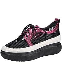 KJJDE Zapatos con Plataforma Mujeres WSXY-A3413 Sandalias de Material de Malla de Verano Transpirable Creativo...