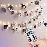 Anpro Clip de Cadena Luces LED Foto,5M 50 LED,Guirnaldas Luminosas para Decorar Pared,Fiesta,Boda