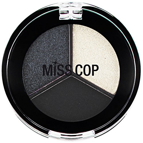 MISS COP-Fard à paupières Color Trio Black smoky - 3 g
