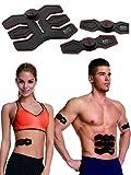 Body Sculpture EMS-Trainingsgerät elektronischer Muskelstimulator - Elektrostimulationsgerät zum Muskelaufbau – hochleitende selbstklebende Gel-Pads