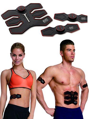 Body Sculpture Unisex- Erwachsene EMS18390 EMS Muskeltrainer, Schwarz/rot, one Size -