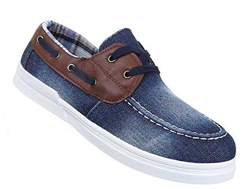 Herren-Schuhe Slipper | schicke Halbschuhe mit Schnürung in verschiedenen Farben und Größen | Schuhcity24 | Slipper Used Optik Blau