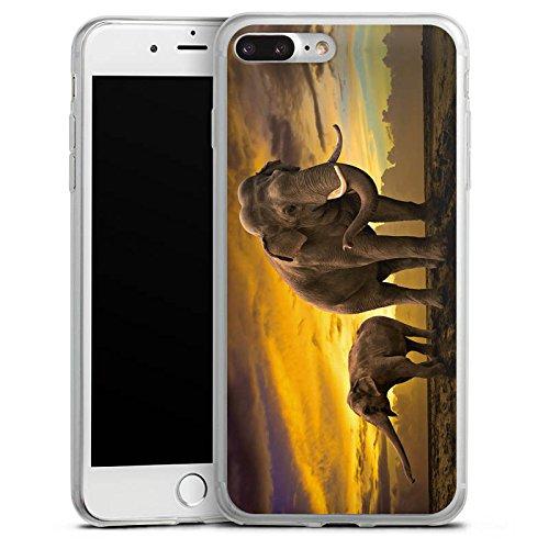 Apple iPhone 8 Slim Case Silikon Hülle Schutzhülle Elefant Elefanten Rüsseltier Silikon Slim Case transparent