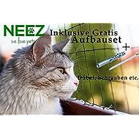 Katzennetz 3x8 meter für Balkon Transparent außennetz Taubennetz katzenschutznetz
