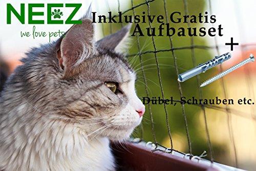 *Katzennetz 3×8 meter für Balkon Transparent außennetz Taubennetz katzenschutznetz*