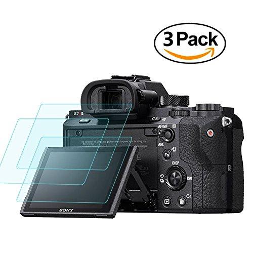 Displayschutzfolie für Sony Alpha a7riii a7rii a7sii A7R Mark II Kamera, masstimo 3 Pack gehärtetem Glas LCD Display Schutz Guard für A72 a7r2 a7s2 A7R Mark 2 (Screen Protector Lcd Film)