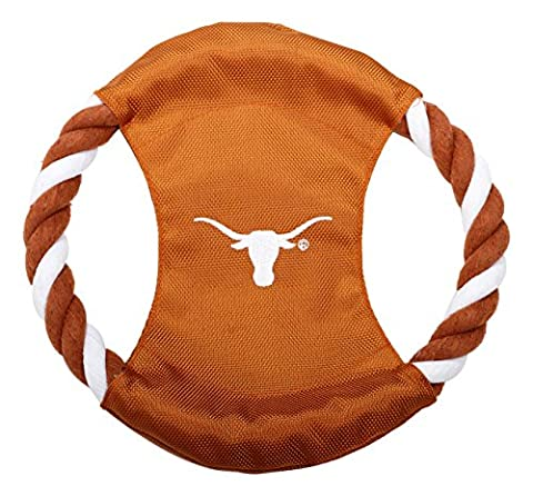 Pet Goods Manufacturing DISCRP-130 NCAA Texas Longhorns Rope Disc Dog Toy by Pet Goods Manufacturing
