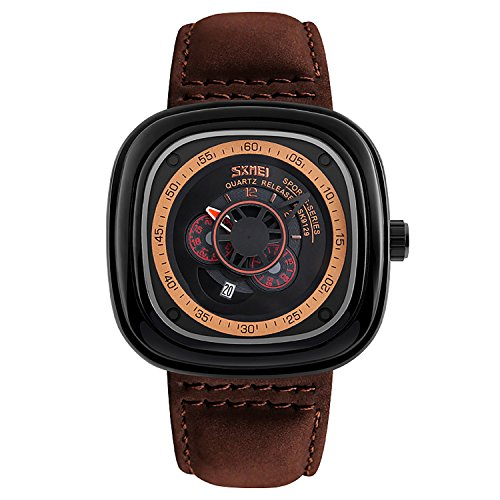 mens-brown-genuine-leather-band-watch-waterproof-black-gear-decorative-large-face-dial-watches-japan