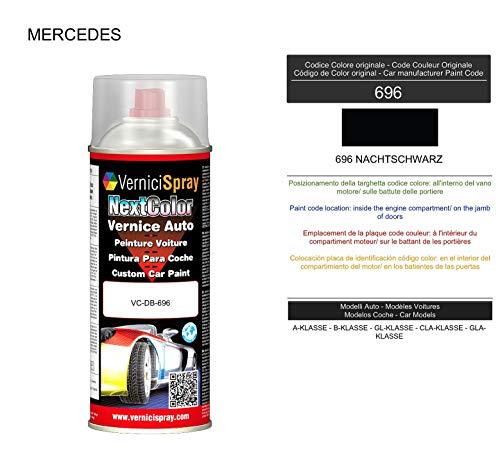 Vernice Ritocco 696 NACHTSCHWARZ per verniciatura carrozzeria in Bomboletta Spray 400 ml VerniciSpray
