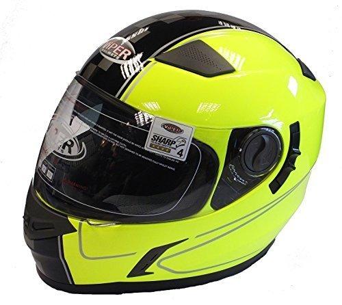 Viper Roller (MOTORRADHELM VIPER RS-V9 ROLLER INTEGRALHELM RENNHELM GELB (M))