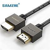 HDMI macho a hembra cable de extensión, 1,5m/4.9ft alta velocidad 4K resolución Cable para BLU RAY PLAYER, 3d televisión, portátil, consolas de videojuegos, proyector, PS3, Apple TV