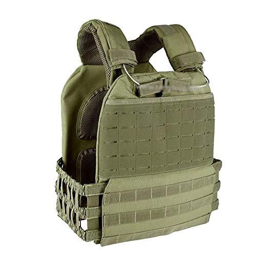 YANODA Jagdwesten Outdoor Sports Körperschutz Combat Assault Vest Weste Tactical Molle Vest Plate Träger Weste, Olive Drab - Paintball Weste Olive