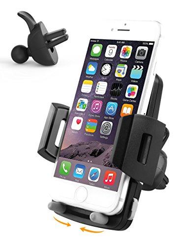 Handyhalterung Auto Handyhalter fürs Auto Lüftung Elegear【DESIGN PATENT】kfz/pkw universal Handyhalterung, 360 Grad, Antirutsch, Robustere Greiffähigkeit, VERSTELLBARE STÜTZE UNBEHINDERT AUX-PORT, Handyhalterung Lüftung für iphone 6 6s 7 7 plus 8 8 plus/samsung galaxy s6 s7 s8 a5/huawei p8 p9 p10 lite nova/sony xperia, Breite von 5,3cm-9,5cm, Handyhalterung Lüftungsschlitz