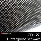 MST Design Wassertransferdruck Starter Set Klein I WTD Folie + Aktivator + Dippdivator + Zubehör I 4 m x 50 cm I Carbon Look für Auto Tuning & Dekoration I CD-127