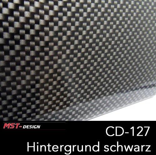 MST-Design Wassertransferdruck Folie I Starter Set Klein I WTD Auto Folie Carbon + Dippdivator / Aktivator + Zubehör I 4 m x 50 cm I Carbonlook I CD-127